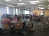 REU Students at a weekly seminar