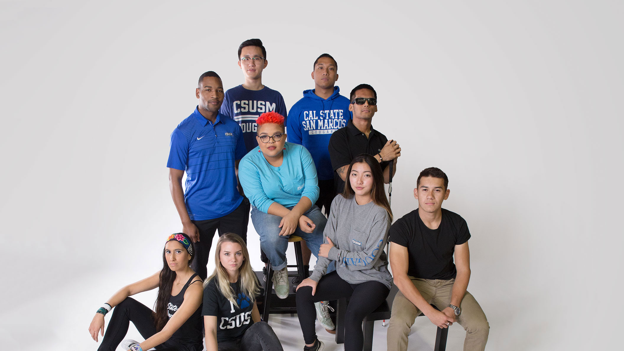 CSUSM students share their diverse identities in a photo shoot