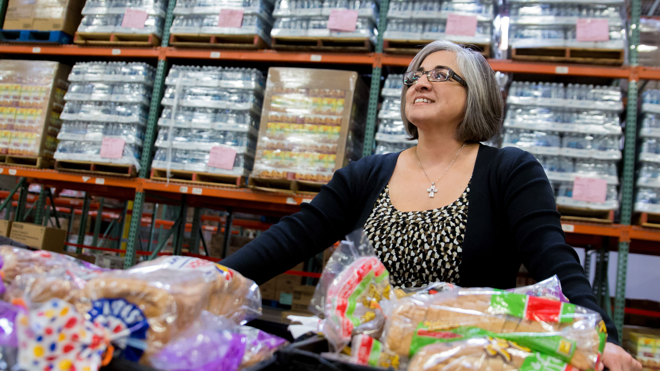 Alumna Denise Gurulé at Feeding San Diego headquarters