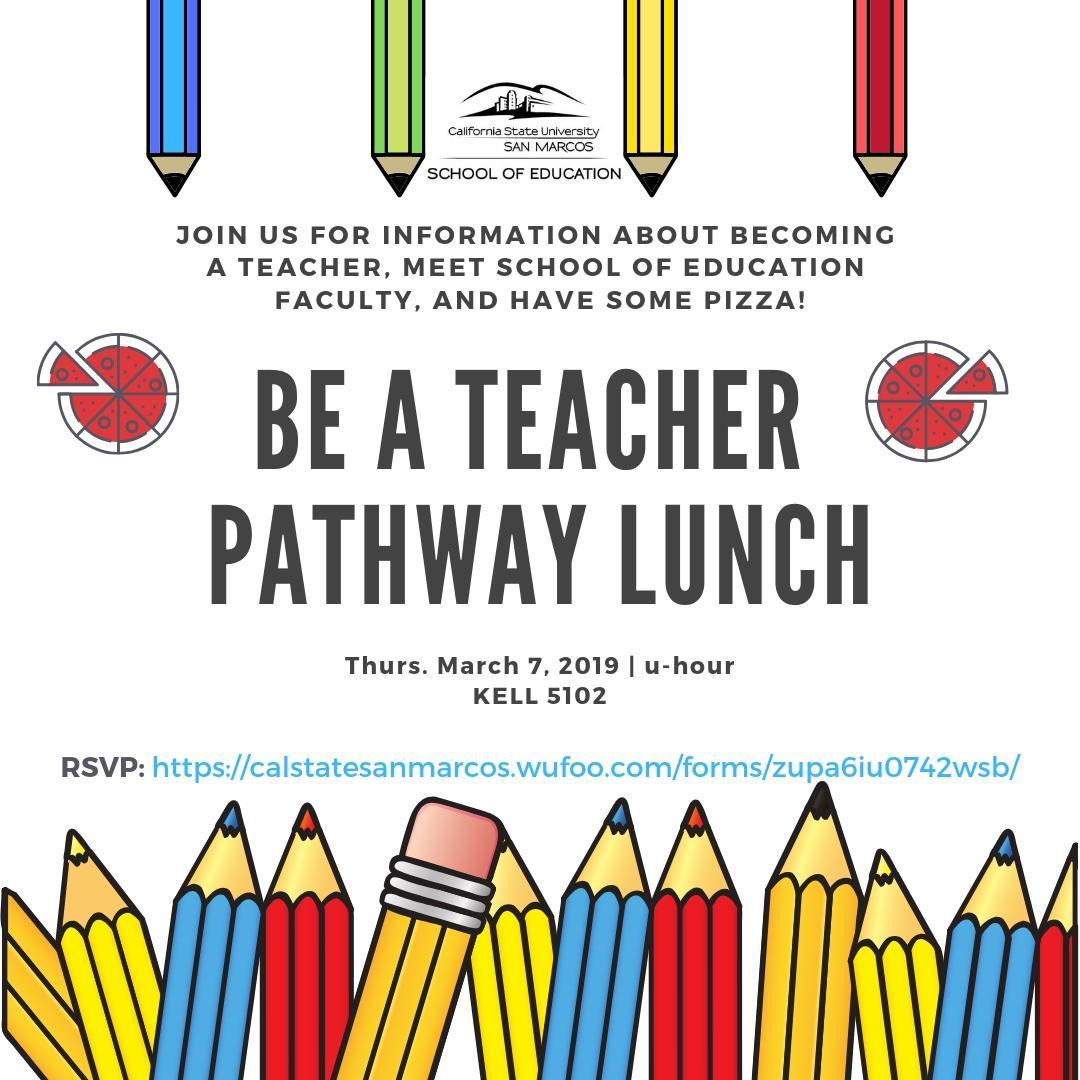Be A Teacher Pathway Lunch