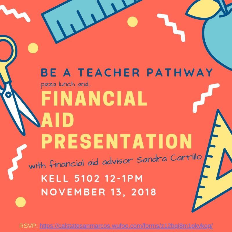 Financial Aid: Be A Teacher Pathway