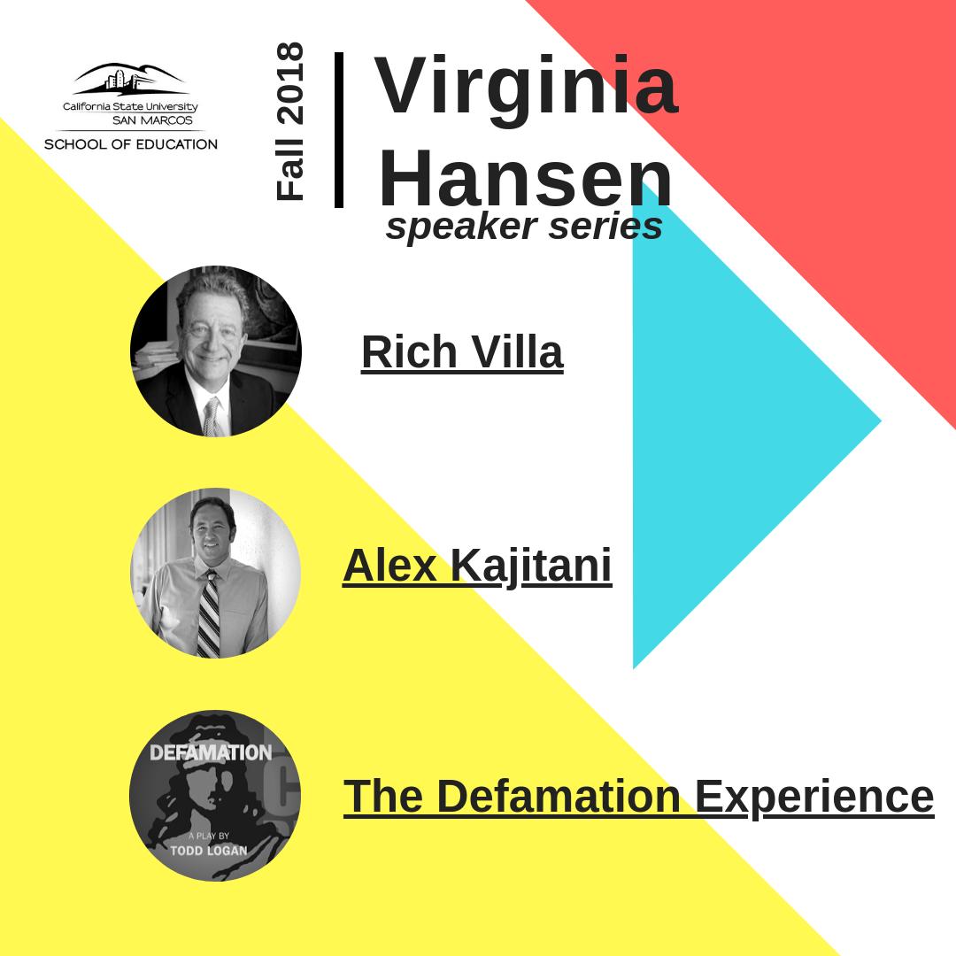 Virginia Hansen Speaker Series: Fall 2018