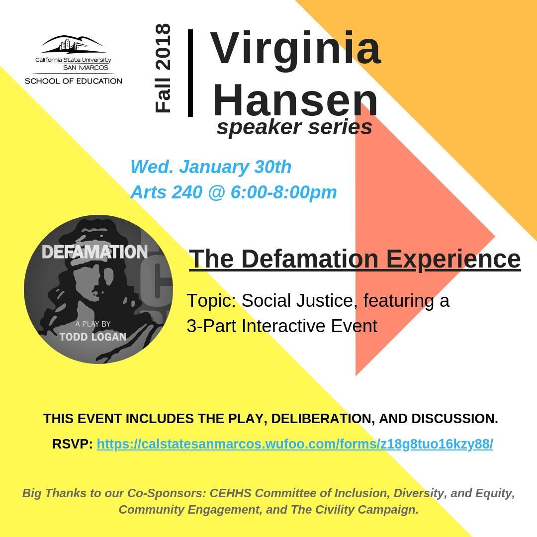 Virginia Hansen: Defamation Experience