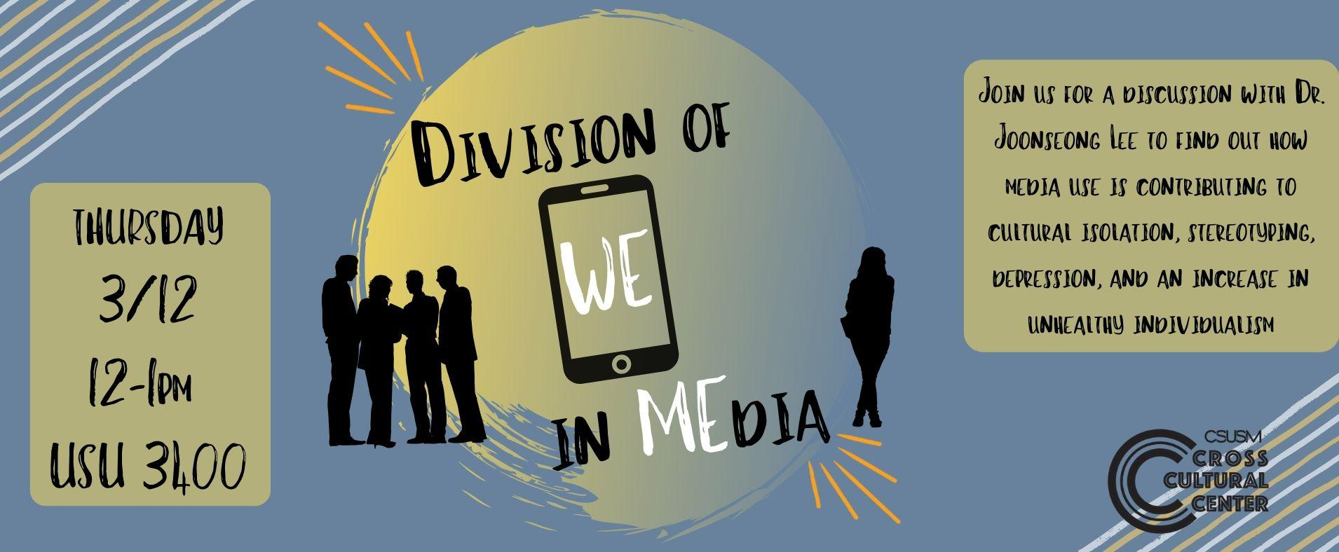 Critical Cougars - Division of WE in MEdia - Thursday March 12, 2020 - 12PM to 1 PM - USU 3400