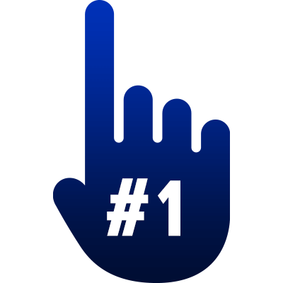 A hand with a single finger raised indicating number one.