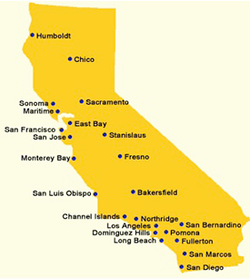 CSU Campuses are spread throughout California