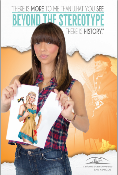 Beyond the Stereotype American indian Student Poster