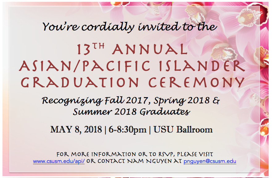 save the date - 13th annual API graduation ceremony