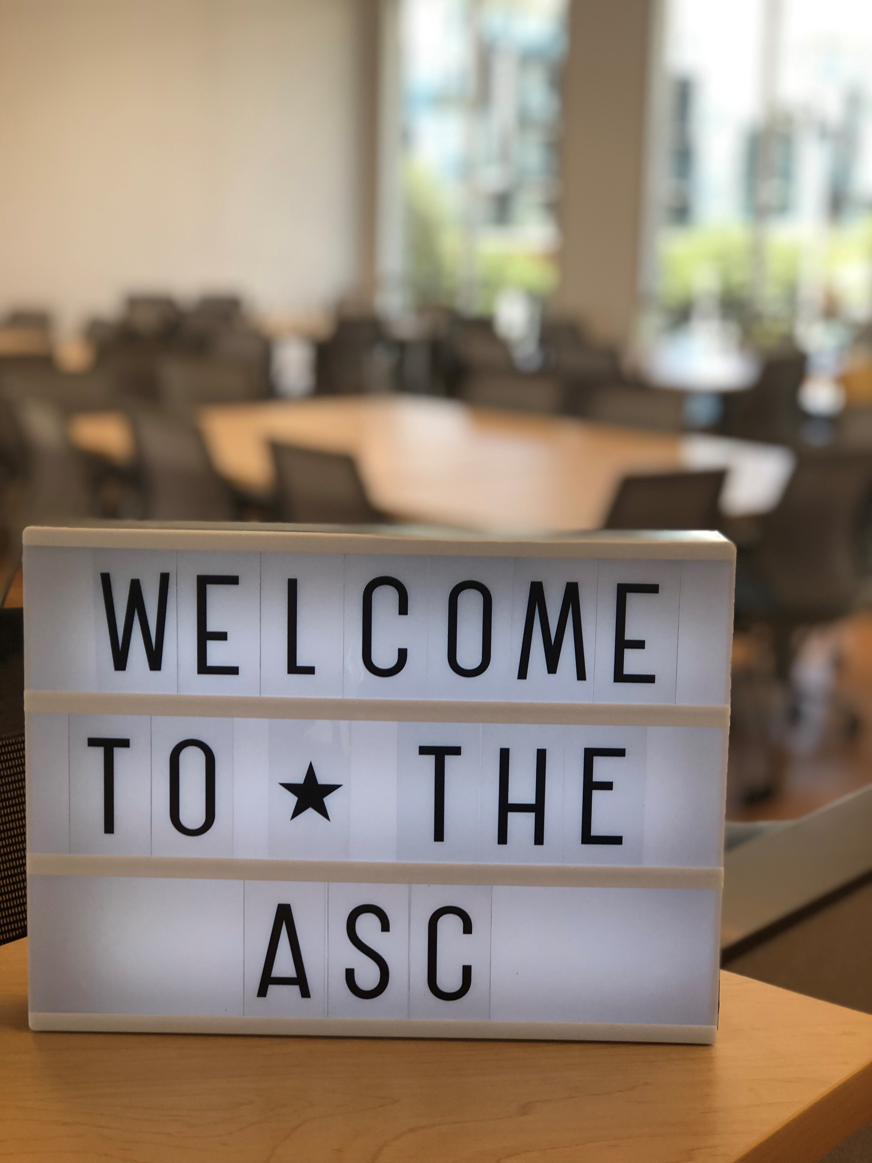 welcome to the asc sign