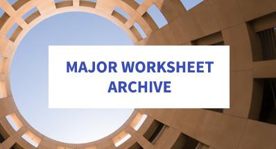 Major Worksheets Csusm