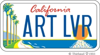 Arts Lovers license plate