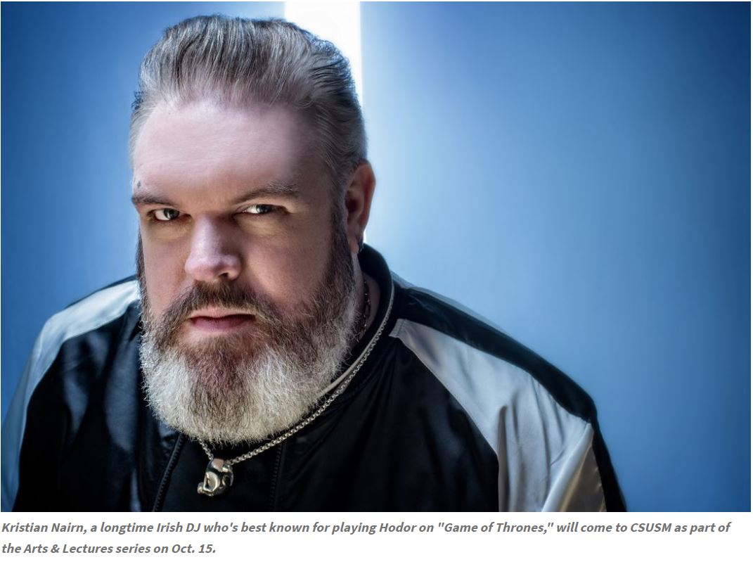 "Kristian Nairn, a longtime Irish DJ who's best known for playing Hodor on ""Game of Thrones,"""