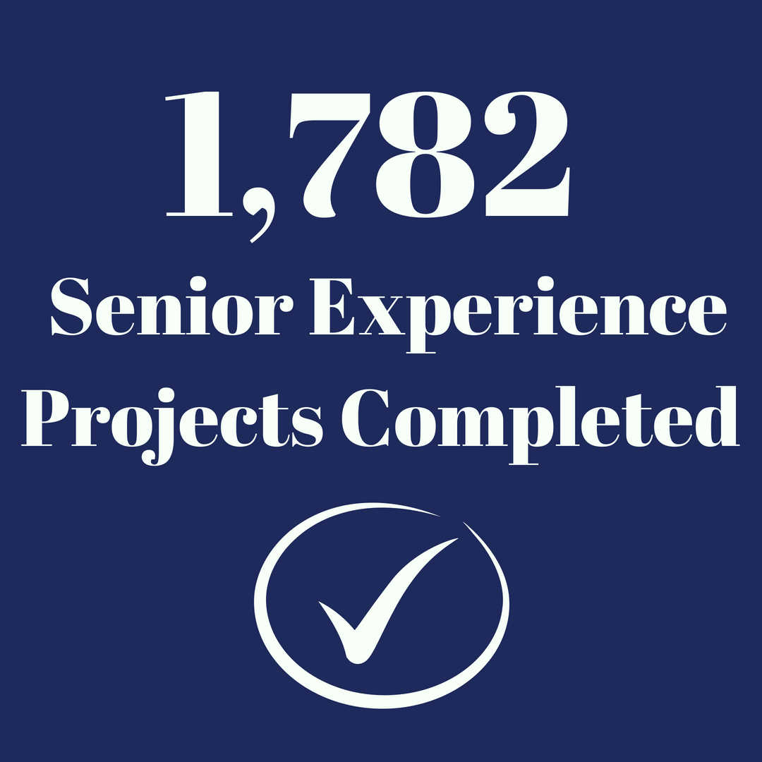 1782 Senior Experience Projects completed