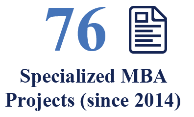76 Specialized MBA projects (since 2014)