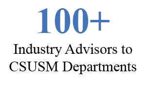 100+ Industry advisors to CSUSM Departments