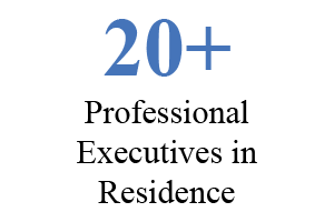 20+ professional executives in residence
