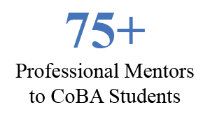 75+ professional mentors to CoBA students
