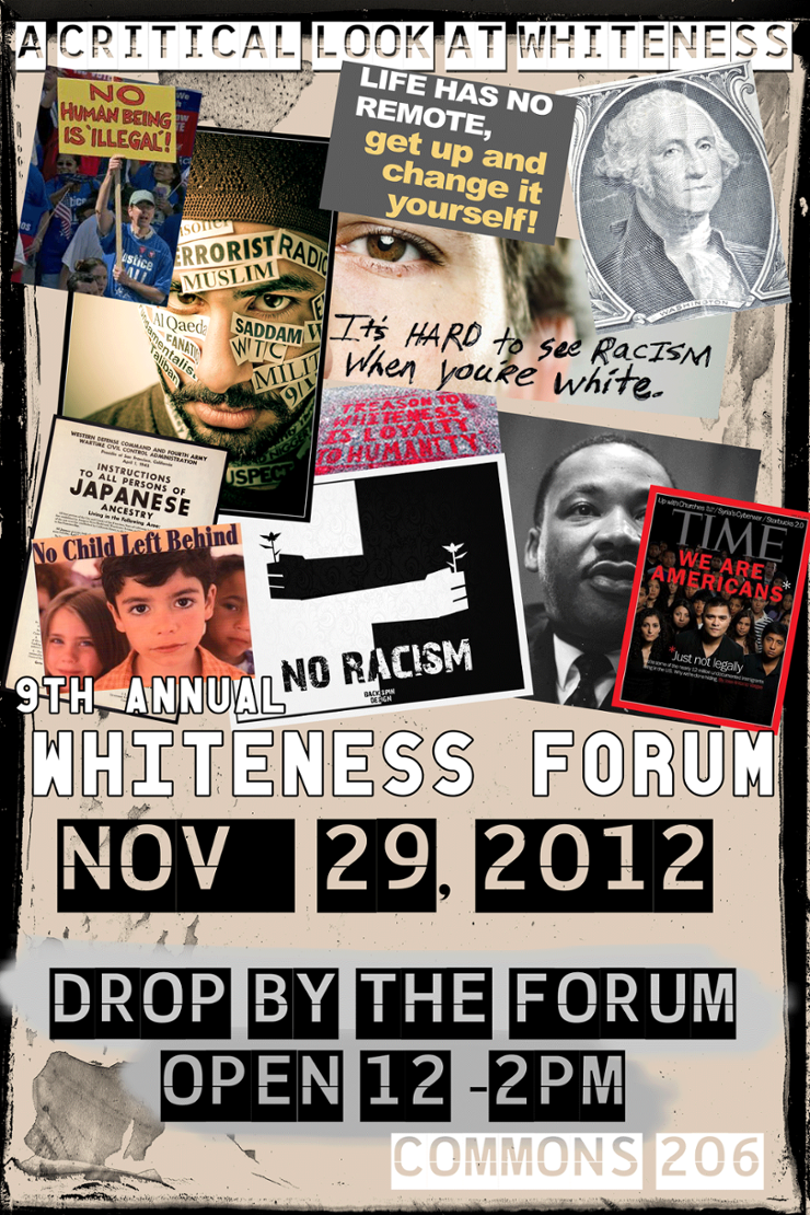 2012 Whiteness Forum Poster