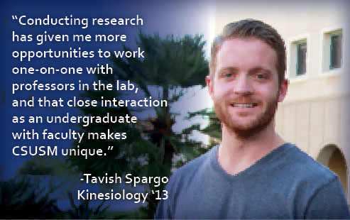 Tavish Spargo Kinesiology Major 2013
