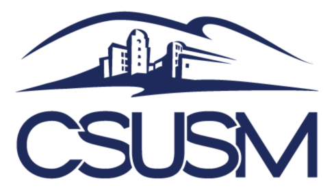 CSUSM logo - Initials Text and Hill Version