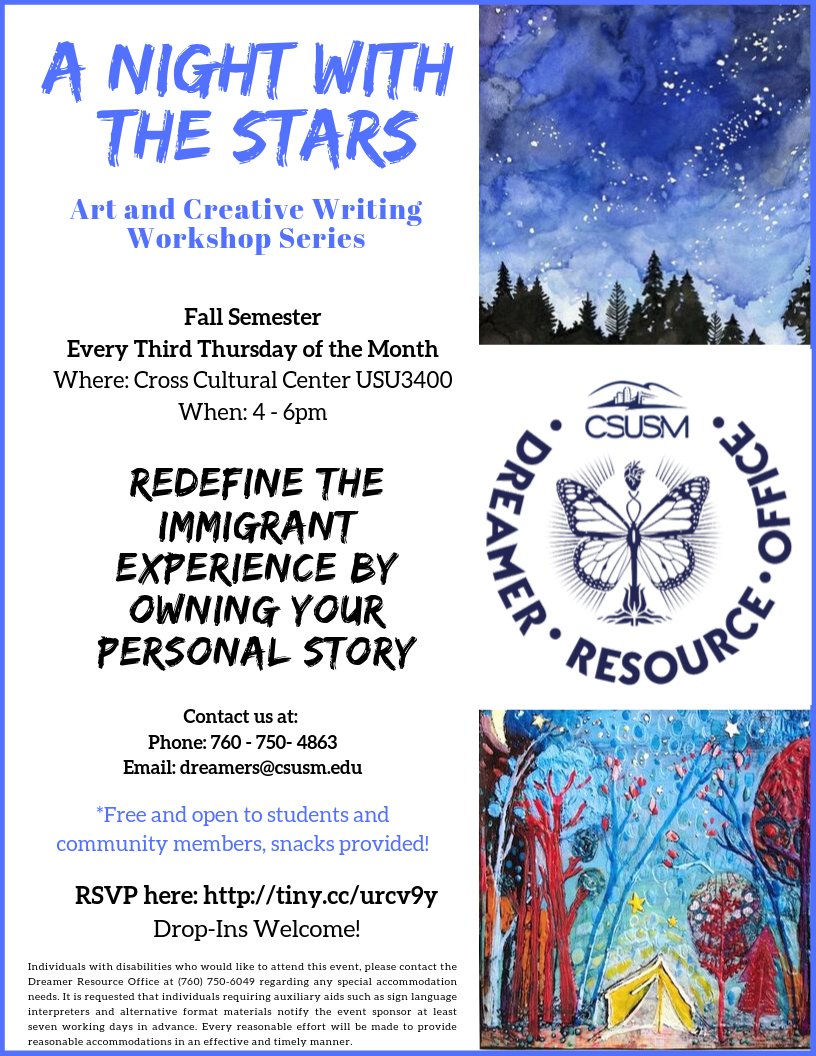 A night with the stars workshops