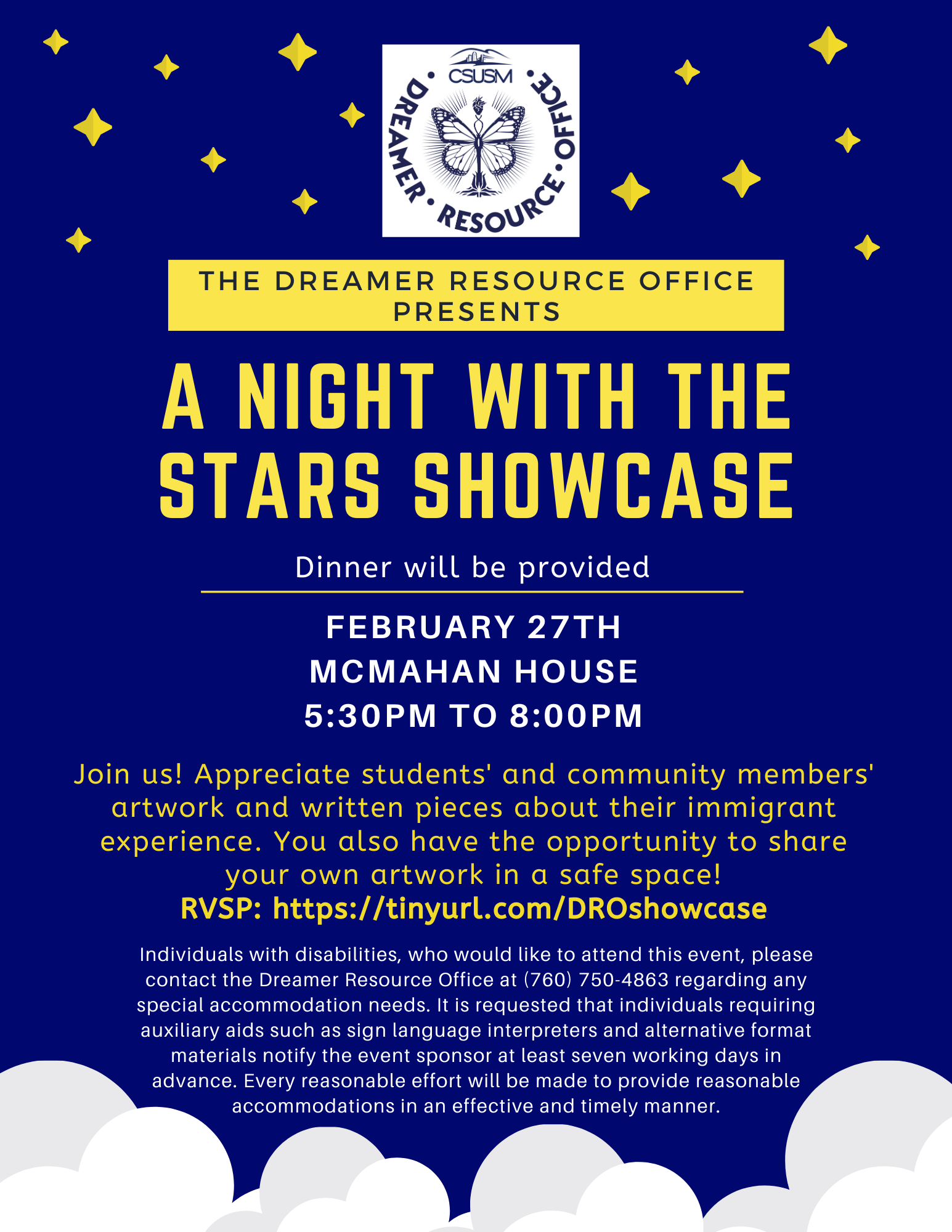 A night with the stars showcase flyer