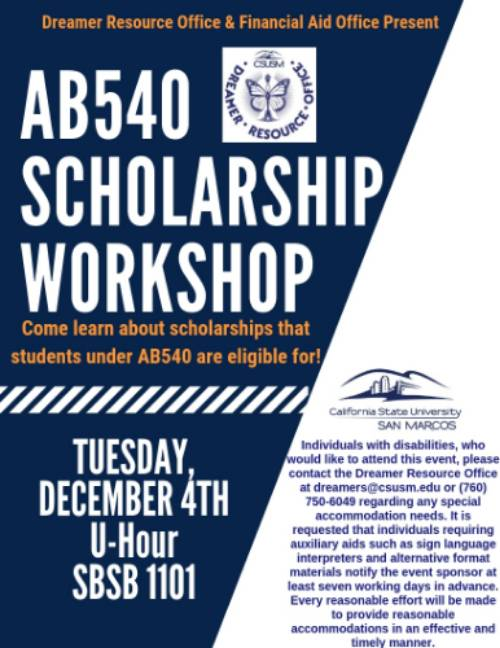 AB-540 Scholarship Workshop