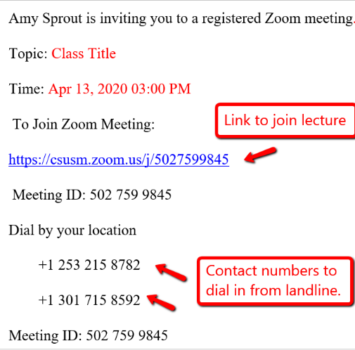 zoom email