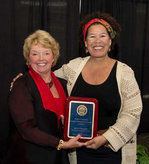 Dr. S. Elise with the CSUSM President