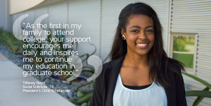 Tiffany Boyd, President Circle Scholarship
