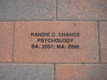 Randie Chance '07, BA and MA, Psychology, Criminal Justice Minor