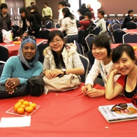 students at lunar new year party