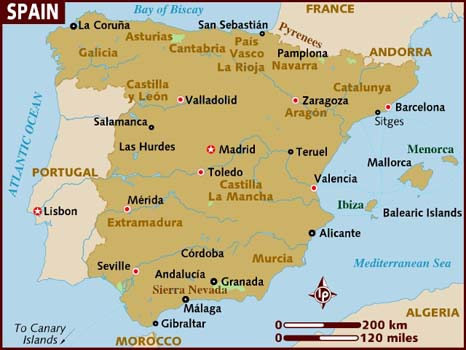 Map Of Spain For Classroom.Spanish For Teachers Global Programs And Services Gps Csusm