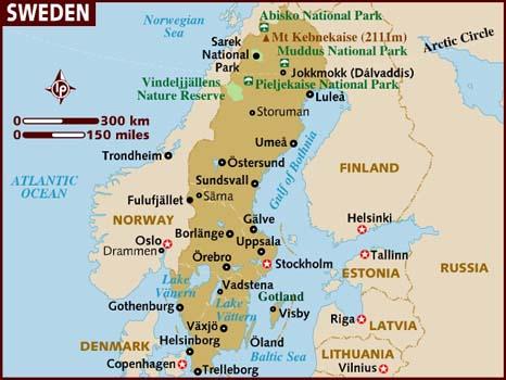 Stockholm CSUSM - Norway universities map