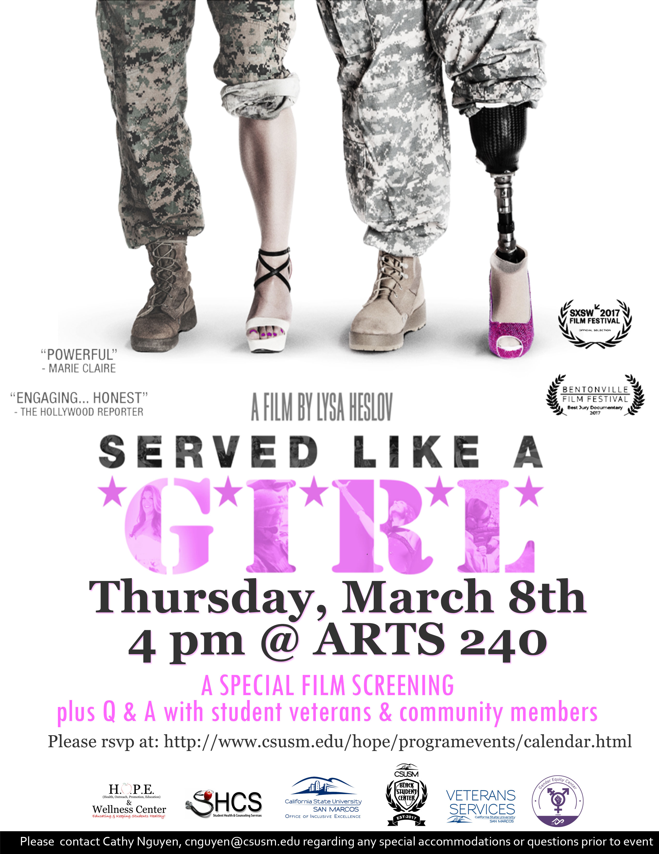 Served Like a Girl Film Screening