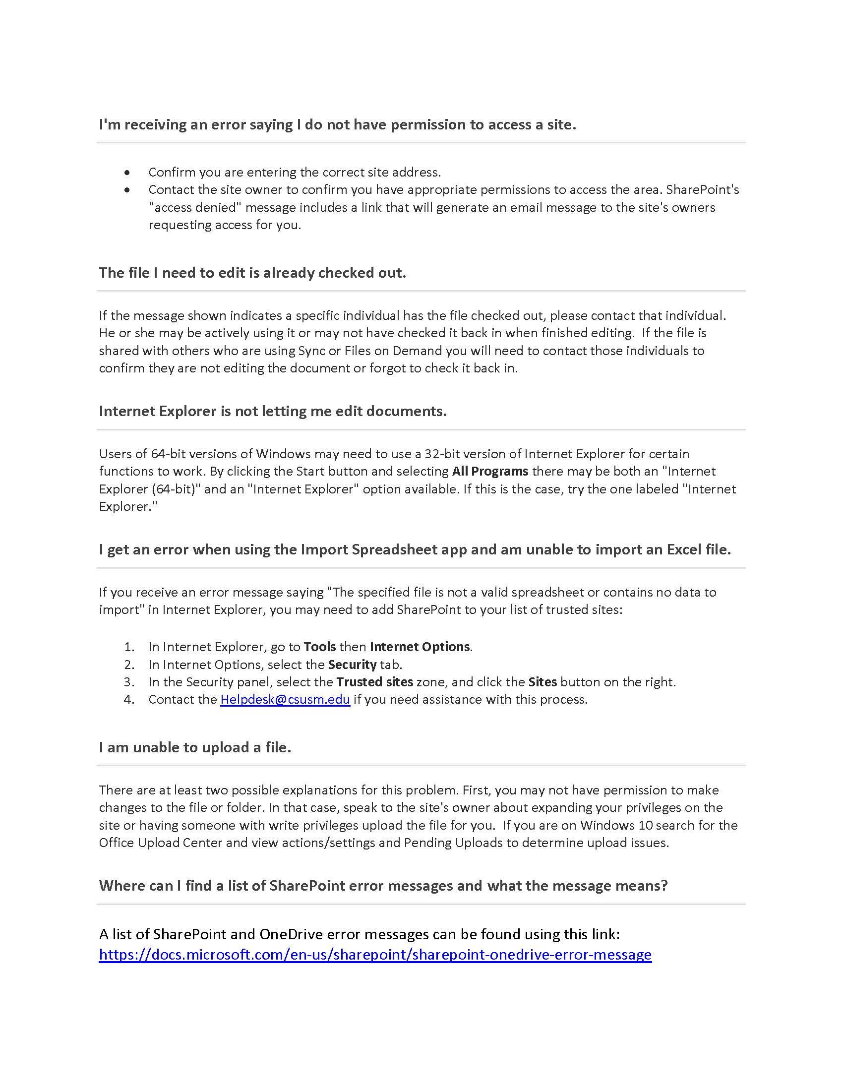 SharePoint | Technology Support Services | CSUSM