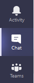 teams and chat icons