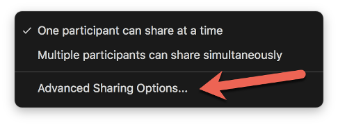 screen share in Zoom to prevent participants from sharing