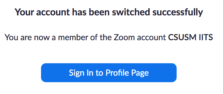 sign in to the zoom profile page