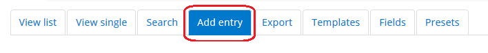 add entry tab