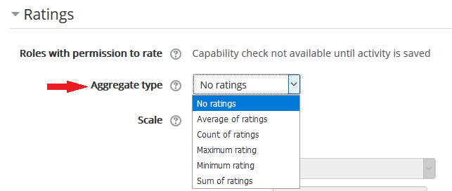 ratings aggregation options