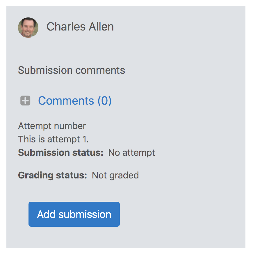 Add submission button