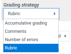 choose grading strategy