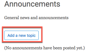 add new topic button
