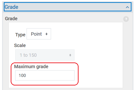 grade section in settings