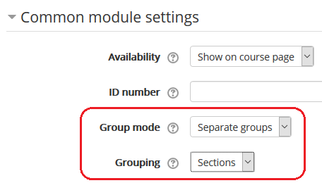 group mode and grouping