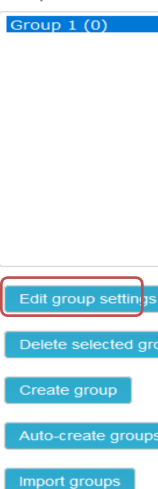 edit group settings to select the group listed