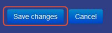 select the save changes button