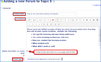 forum settings