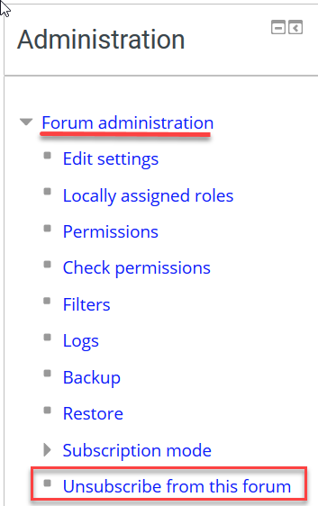 unsubscribe from forum